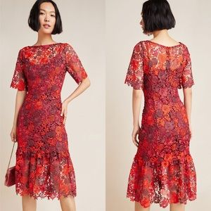 NWT Eva Franco Brigitte Embroidered Midi Dress